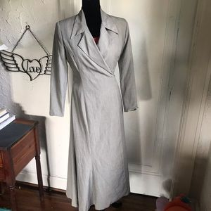 Maxi Wrap dress Tracy Reece trench vintage